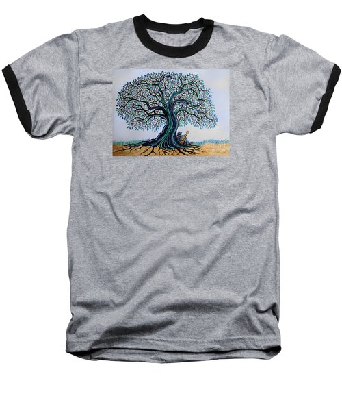 Singing Under The Blues Tree Baseball T-Shirt by Nick Gustafson