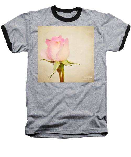 Single Baby Pink Rose Baseball T-Shirt
