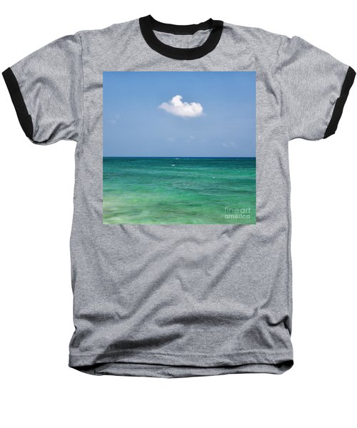 Single Cloud Over The Caribbean Baseball T-Shirt