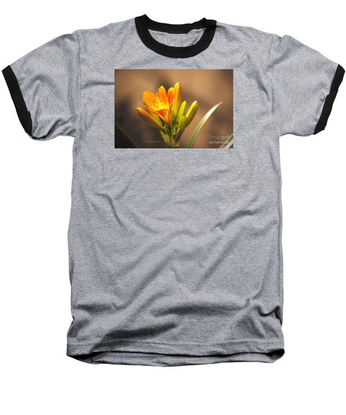 Single Kaffir Lily Bloom Baseball T-Shirt