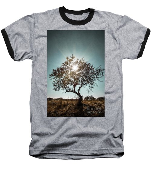 Single Tree Baseball T-Shirt by Carlos Caetano