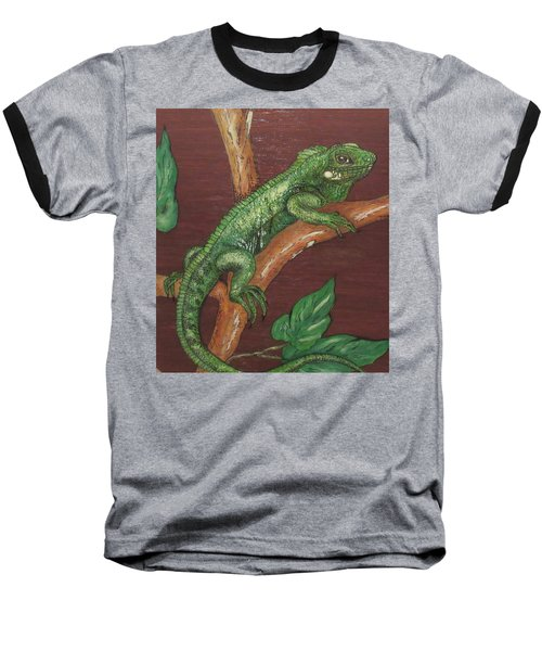 Sir Iguana Baseball T-Shirt