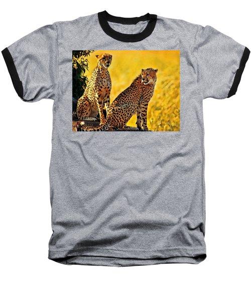 Sister Cheetahs Baseball T-Shirt