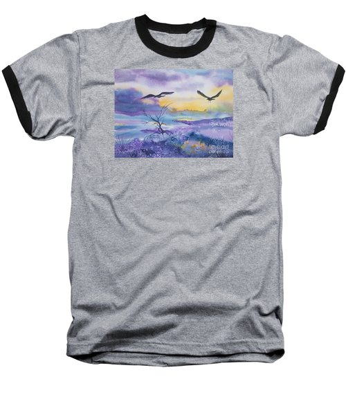 Baseball T-Shirt featuring the painting Sister Ravens by Ellen Levinson