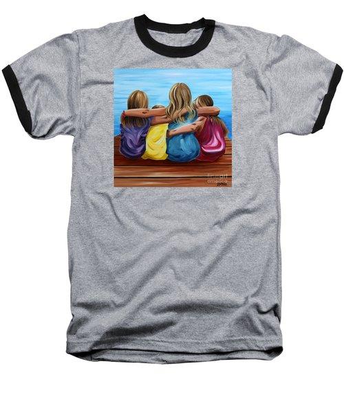 Sisters Baseball T-Shirt by Debbie Hart