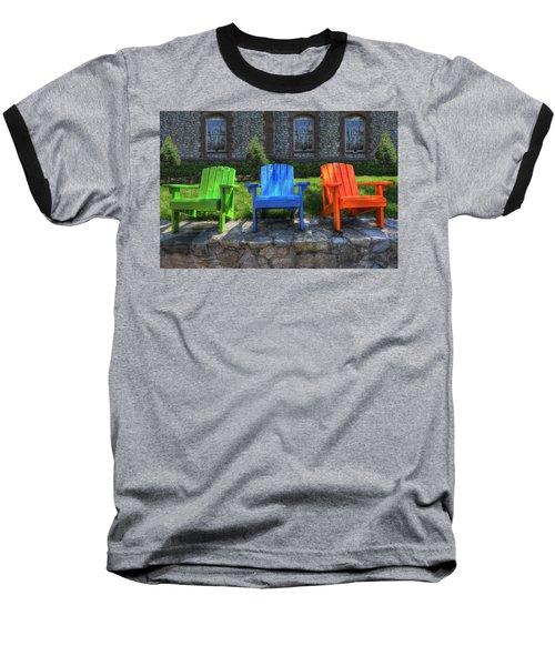 Sit Back Baseball T-Shirt by Paul Wear