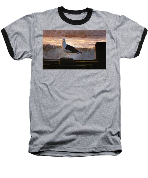 Sittin On The Dock Of The Bay Baseball T-Shirt by David Dehner