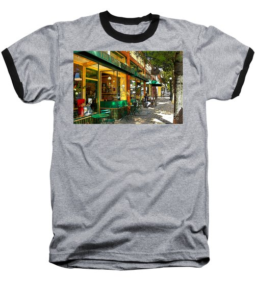 Sitting At The Bakery Baseball T-Shirt
