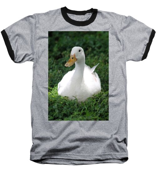 Sitting Duck Baseball T-Shirt by Pamela Walton