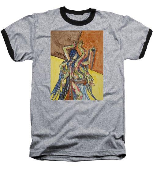 Six Armed Goddess Baseball T-Shirt by Stormm Bradshaw