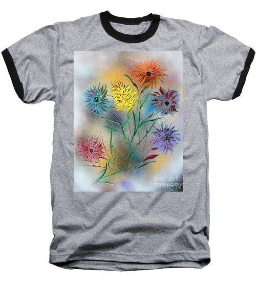 Six Flowers Baseball T-Shirt