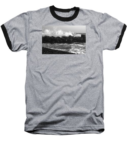 Baseball T-Shirt featuring the photograph Skagen Waves by Randi Grace Nilsberg