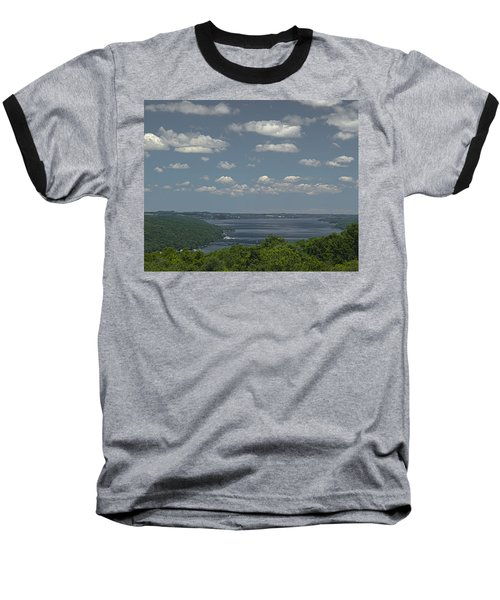Skaneateles Lake Baseball T-Shirt by Richard Engelbrecht