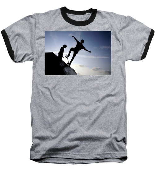 Skateboarders Baseball T-Shirt