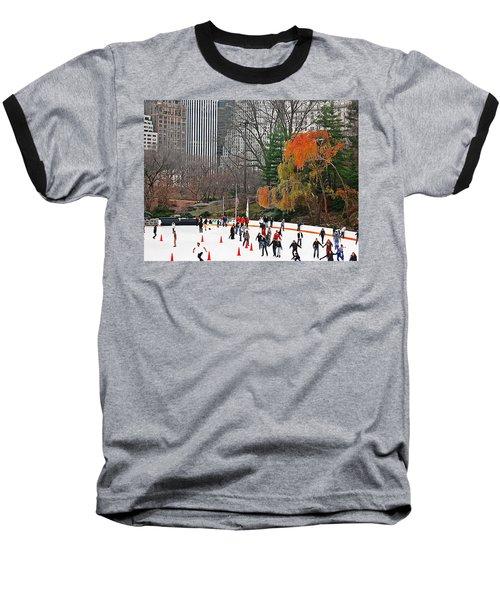 Skating Away Baseball T-Shirt