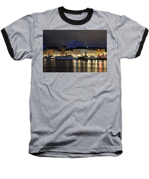 Skeppsbron At Night Baseball T-Shirt by Jeremy Voisey