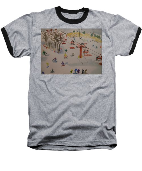 Ski Area Baseball T-Shirt