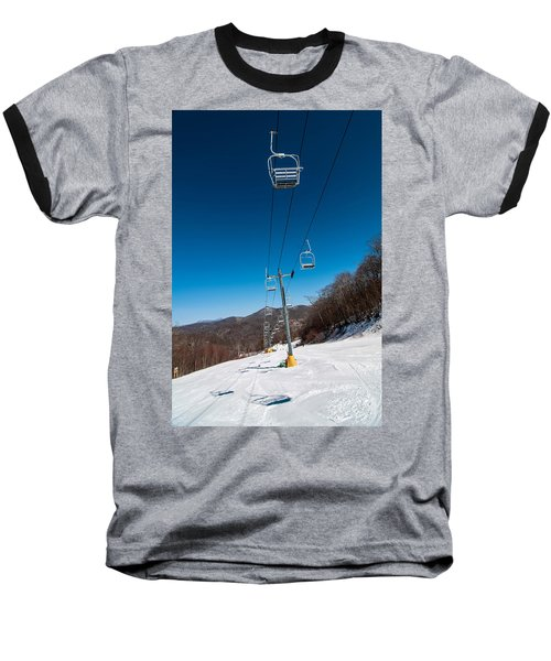 Baseball T-Shirt featuring the photograph Ski Lift by Alex Grichenko