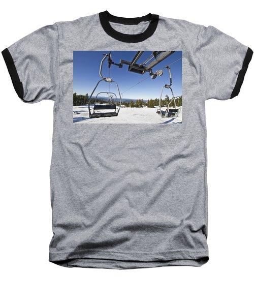 Ski Lifts At Mount Hood In Oreon Baseball T-Shirt