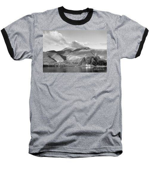 Skiddaw And Friars Crag Mountainscape Baseball T-Shirt