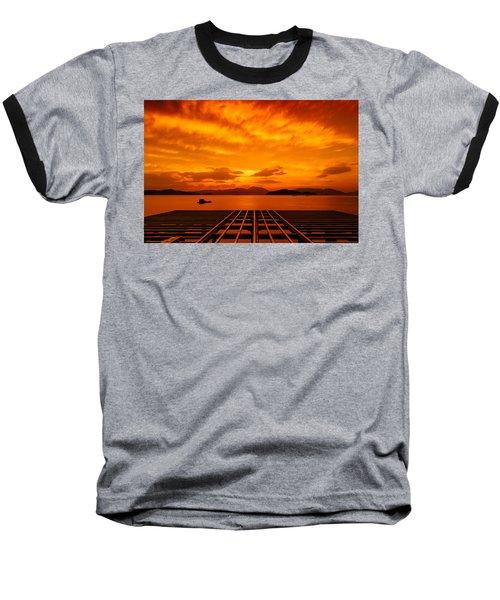 Skies Ablaze - One Baseball T-Shirt