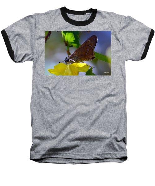 Skipper Butterfly Baseball T-Shirt by Debra Martz