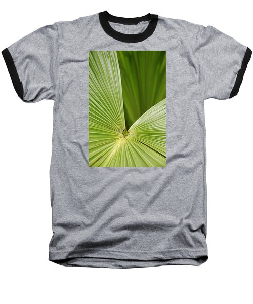 Baseball T-Shirt featuring the photograph Skc 0691 The Paths Of Palm Meeting At A Point by Sunil Kapadia