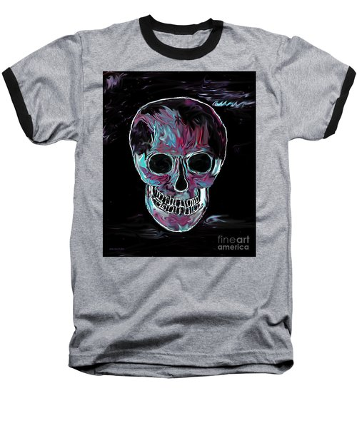 Baseball T-Shirt featuring the painting Skull by Annie Zeno