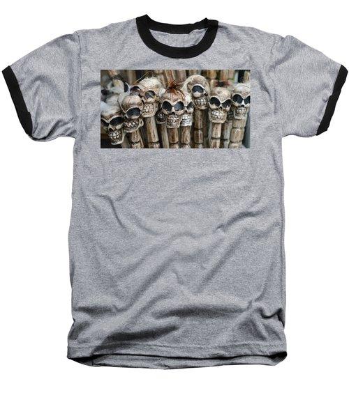 Skull Sticks Baseball T-Shirt