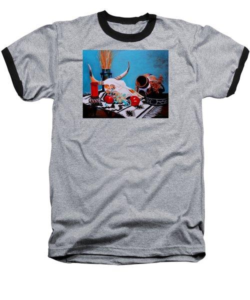 Skull Still Life Baseball T-Shirt