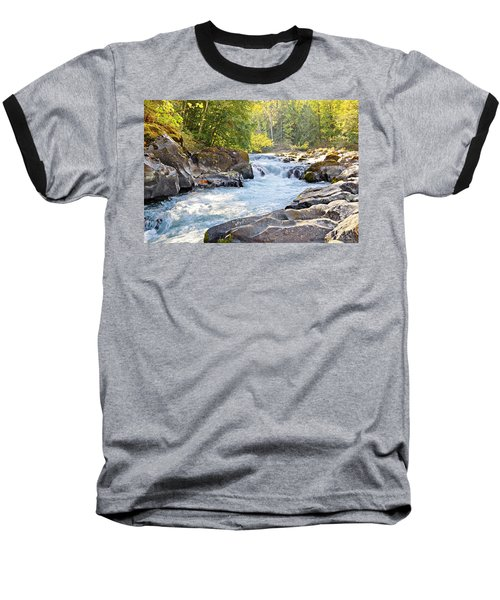Skutz Falls At Cowichan River Provincial Park Baseball T-Shirt