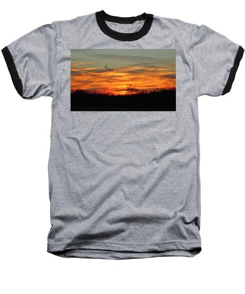 Sky At Sunset Baseball T-Shirt by Cynthia Guinn