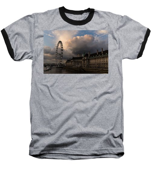 Sky Drama Around The London Eye Baseball T-Shirt