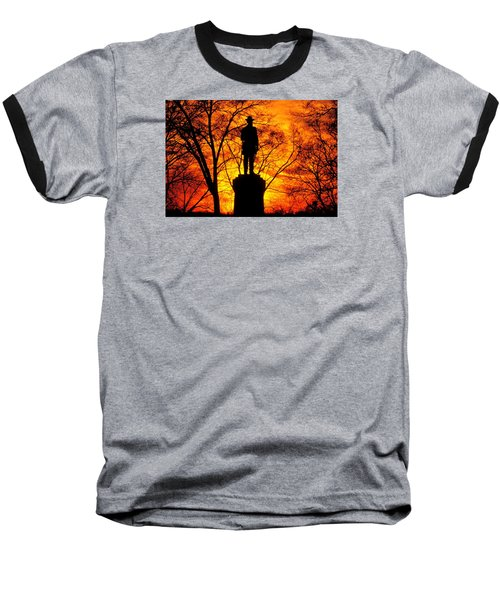 Sky Fire - Flames Of Battle 50th Pennsylvania Volunteer Infantry-a1 Sunset Antietam Baseball T-Shirt