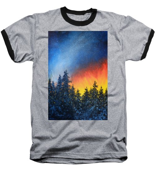 Sky Fire Baseball T-Shirt