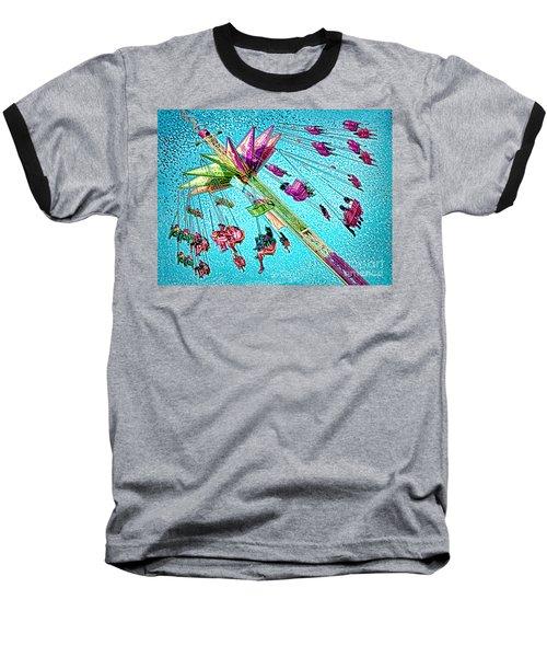 Baseball T-Shirt featuring the digital art Sky Flyer by Jennie Breeze