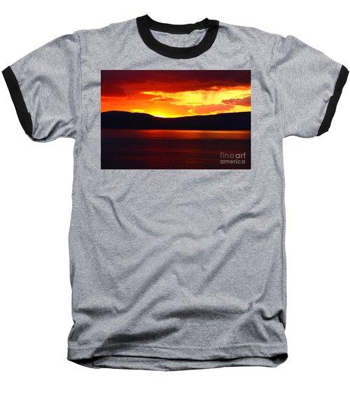 Sky Of Fire Baseball T-Shirt