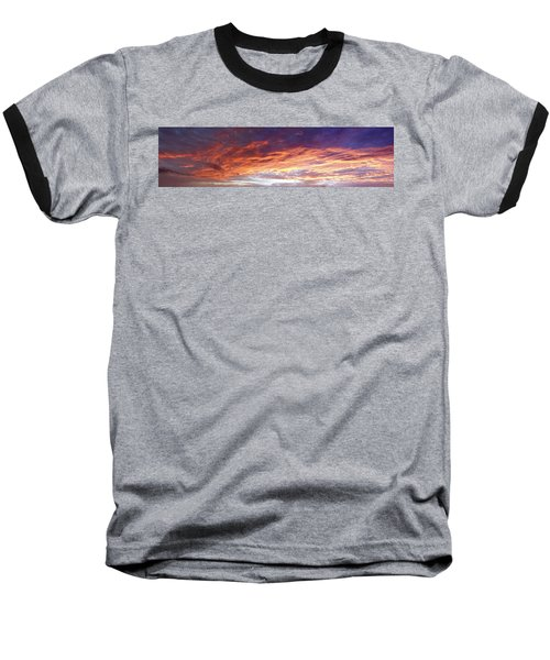 Sky On Fire Baseball T-Shirt by Les Cunliffe