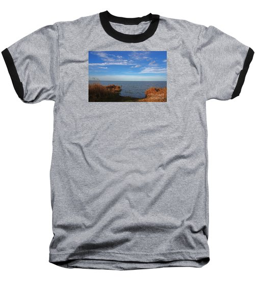 Sky Water And Grasses Baseball T-Shirt by Nareeta Martin