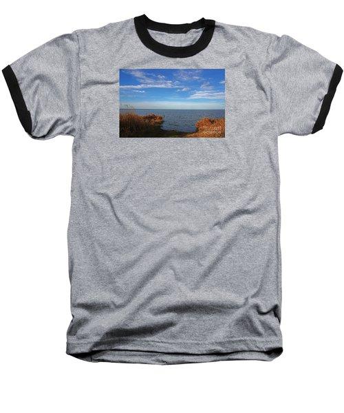 Baseball T-Shirt featuring the photograph Sky Water And Grasses by Nareeta Martin
