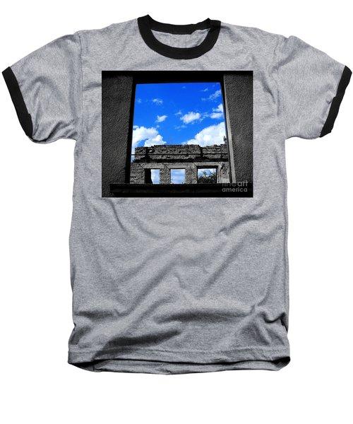 Baseball T-Shirt featuring the photograph Sky Windows by Nina Ficur Feenan