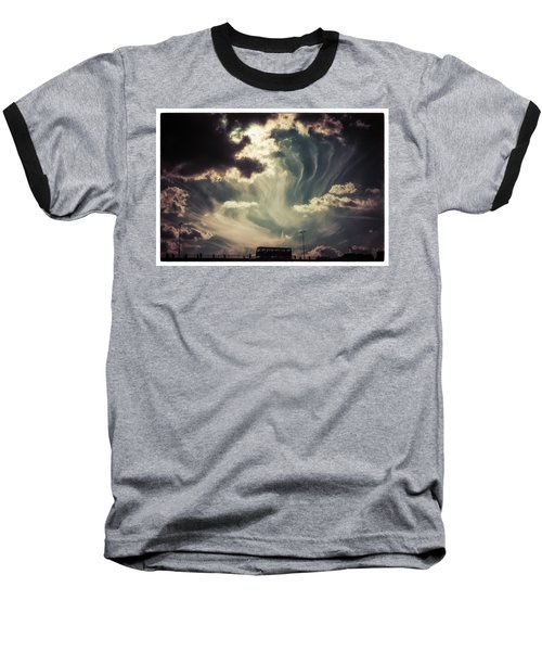 Sky Wisps Over A Double Decker Baseball T-Shirt