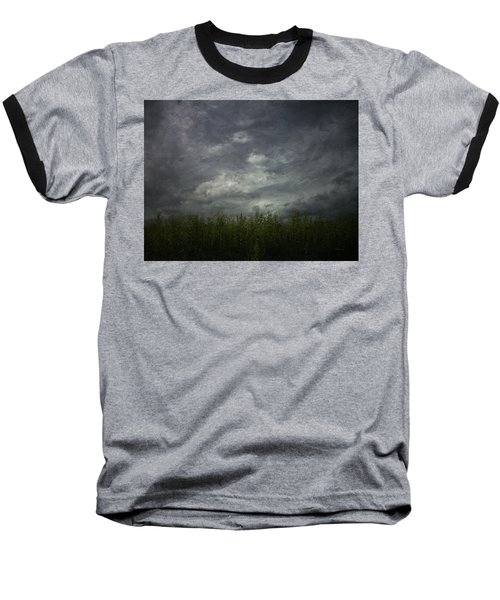 Sky With Cornfield Baseball T-Shirt