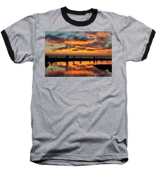 Sky Writing Baseball T-Shirt by Charlotte Schafer