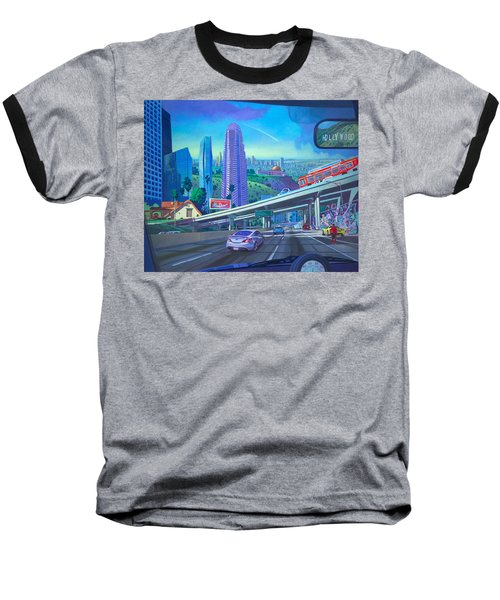 Baseball T-Shirt featuring the painting Skyfall Double Vision by Art James West