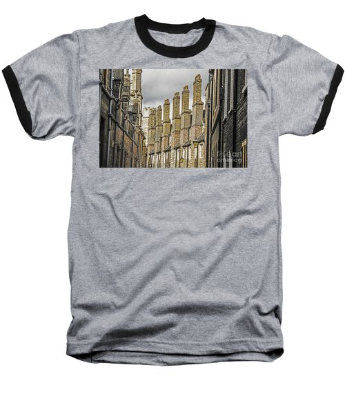 Skyline Of Cambridge Baseball T-Shirt