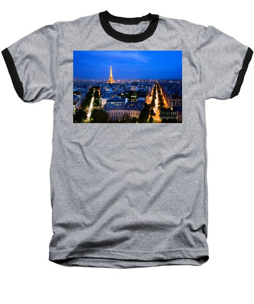 Skyline Of Paris Baseball T-Shirt