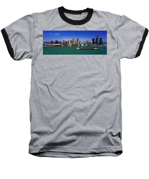 Skylines At The Waterfront, River Baseball T-Shirt