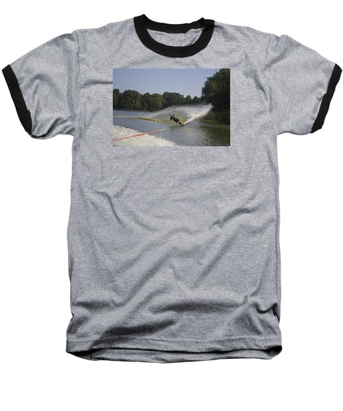 Slalom Waterskiing Baseball T-Shirt