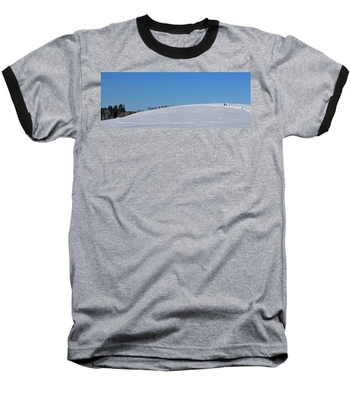Dexter Drumlin Hill Sledding Baseball T-Shirt